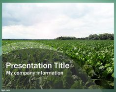 Free Farming PowerPoint Template with green style and farm image in High Definition picture