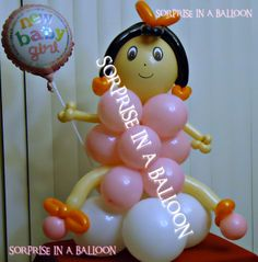 BABY BALLOON  BY SORPRISE IN A BALLOON