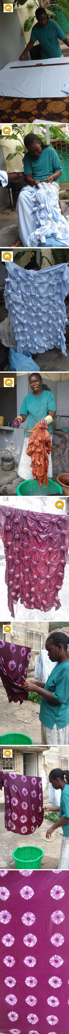 Mozambique Tie Dye - gotta try this on a small scale.