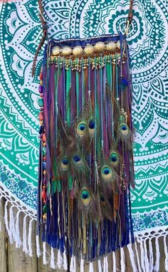 Handmade peacock palette Leather & Suede Fringe Bag Gypsy Boho OOAK Purse B. Hugo Boss Black Side Bag Black side bag by main compartment with phone compartment insideAdjustable shoulder strap: Shortest: 60 cm;have by choosing Betty Boop purses that a Gypsy Style, Hippie Style, Bohemian Style, Boho Chic, Black Side Bag, Peacock Purse, Betty Boop Purses, Gypsy Bag, Unique Purses