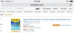 """Healthy, Wealthy, and Wise: The 5 Most Important Wellness Secrets of All Time""  amazon.com/dp/B00R8QP8MY  becomes an Amazon #1 international best seller within hours of release."