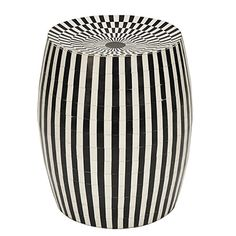 Worlds Away Cylinder Accent Stool Bedroom Stools, Bedroom Benches, Small Accent Tables, Dressing Stool, Faux Fur Stool, Ceramic Garden Stools, New Furniture, White Furniture, Black And White