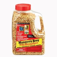 Mosquito Bits -$17.95-  Here is a solution to eliminate mosquitoes safely in a variety of damp or wet habitats before they are old enough to fly and bite. To quickly kill larvae, just sprinkle Mosquito Bits uniformly over the area and let the highly selective microbial insecticide go to work. Within 24 hours, the larvae will be eradicated. Ideal for flower pots, gutters, bird baths, ditches, gardens, rain barrels—anywhere water is standing. Mosquito Bits are not toxic.