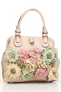 Splurge!!!  Valentino Small Pastel Flower Bag in Sand