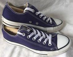 807632e9edfb Converse Chuck Taylor Purple Low Top All Star Sneakers. Size Mens 7 Ladies  9 in