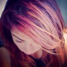 Jess's hair.  #hair #haircolor #haircolour #colour #style #hairstyle #fashion #color #plum #pastel