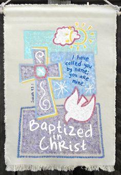Beautiful Large Baptism Banner from GloryBeBanners.com