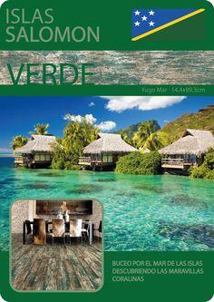 4 Colores, 4 Destinos l #CulturaDeco #VivesAzulejosyGres #YugoMar #Verde #SerieFaro #Faro l #IslasSalomon #Coral #Buceo
