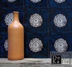 Ręcznie robione kafle ceramiczne -kafel folkowe ,etnodizajn