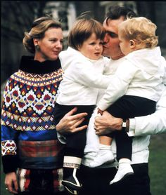 This adorable photo of Prince Consort Henrik holding his two boys Frederik and Joachim was taken in Greenland in 1970.