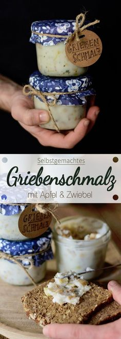 DIY - Selbstgemachtes Griebenschmalz mit Apfel und Zwiebel