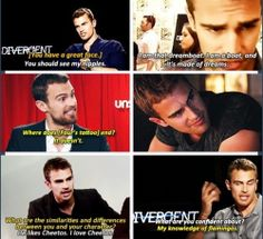 I love Theo James and his humor.