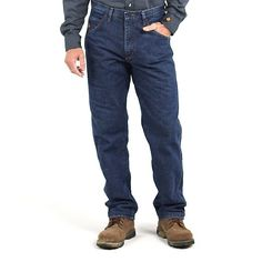 Wrangler Men's Riggs Workwear Flame Resistant Relaxed Fit Jeans:FIRE (Size: 32x36)