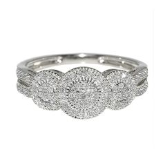 10K White Gold Bridal Engagement Ring With Diamonds (1/4 cttw, I/J Color, i2/i3 Clarity)