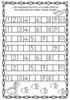 Ri̇tmi̇k Sayma Language: Turkish Grade/level: Okul Öncesi School subject: Matematik Main content: Matematik Other contents: Boşluk Doldurma