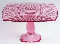 Duncan and Miller's King Arthur pattern glass pedestal cake stand