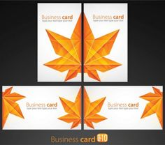 2 Maple Leaf Design Vector Business Cards - http://www.dawnbrushes.com/2-maple-leaf-design-vector-business-cards/
