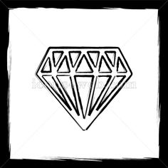 Outline design in high resolution and well suited for web or print use. Diamond Sketch, Diamond Doodle, Sketch Icon, Web Design Icon, Tattoo Flash Sheet, Find Icons, Website Icons, Flat Sketches, Outline Designs