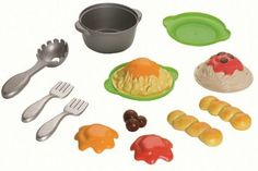 Amazon.com: Fisher-Price Servin' Surprises Cook 'n Serve Kitchen: Spaghetti Set: Toys & Games