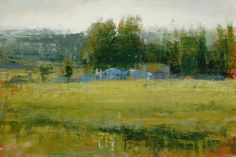 Blue Cattle - by Aaron Bushnell > Just got this electronic image of one of the paintings in our small landscape collection.