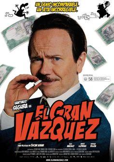 """""""El gran Vázquez"""" (dir. Óscar Aibar, 2010). Basada en la biografía del autor de cómics Manuel Vázquez. #bruguera #biografias #humor"""