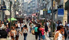 Porto tem a rua portuguesa com maior tráfego pedonal do país