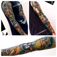 Ghibli tattoo full sleeve