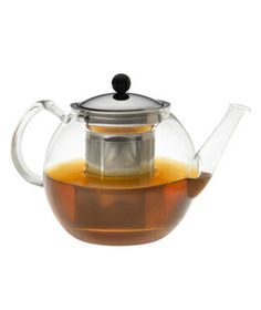 Bodum Glass Teapot---cool idea using glass.....now I can tell when the tea is at the perfect strength for me!
