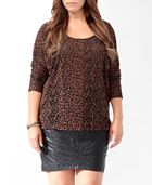 Product Name:Burnout Leopard Dolman Top, Category:Knit Tops, Price:14.80