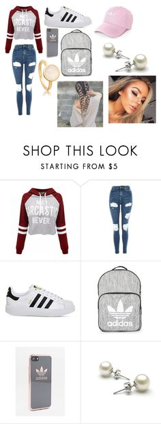"""College"" by sarahelizabethdye on Polyvore featuring WithChic, Topshop and adidas"