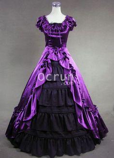 Attraktive Purple und Schwarz Victorian Kleider zu verkaufen