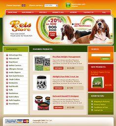 Website Template #20727 Pet Store ZenCart