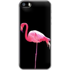 Pink Flamingo - black Par WAM pour Apple  iPhone 5/5s