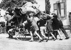 L'exode en 1940 C'est sans nul doute le grand traumatisme de cette année, celui qui jette sur les chemins de France des familles entières réduites au statut de réfugiés.
