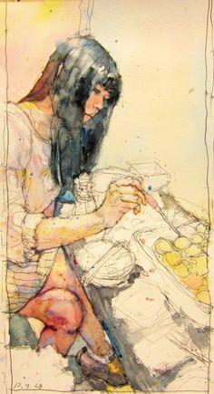 """0928D,13"" - Taro Hata {contemporary artist female woman digital painting} <3"