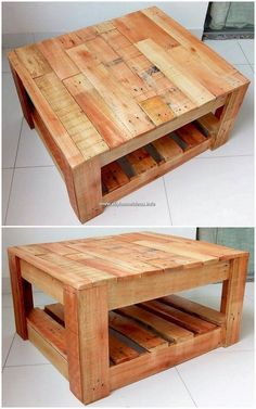Gorgeous DIY Pallet Ideas Every DIYer Will Love By making the use of the old wooden pallets into something really creative and catchier is no doubt becoming one of the biggest. Wood Pallet Tables, Wooden Pallet Projects, Pallet Crafts, Woodworking Projects Diy, Woodworking Furniture, Pallet Ideas, Kids Woodworking, Woodworking Workbench, Pallet Furniture Designs