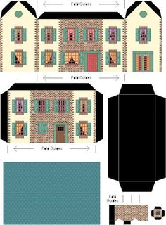 Dollhouse for dollhouse printable Paper Doll House, Paper Houses, House Template, Putz Houses, Doll Houses, Glitter Houses, Miniature Houses, Paper Models, Paper Toys