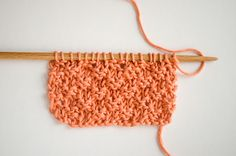 Learn how to knit the box stitch.