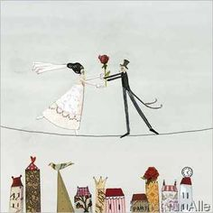 Silke+Leffler+-+Bride+&+Groom+on+tightrope