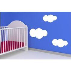 Wolken, Größe: L, 1Stk. 50x26 cm 2 Stk. 14x17 cm , Farbe: Weiss  39,90 EUR