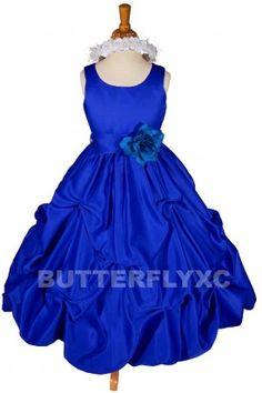 Royal Blue Flower Girl Dress