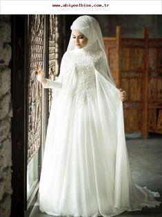 661 Likes, 6 Bewertungen - InstTürban Tasarım & Makeup Studıo👑 (Nu . Muslim Wedding Gown, Muslimah Wedding Dress, Muslim Wedding Dresses, Muslim Brides, Bridal Dresses, Wedding Gowns, Bridesmaid Dresses, Turban, Wedding Hijab Styles