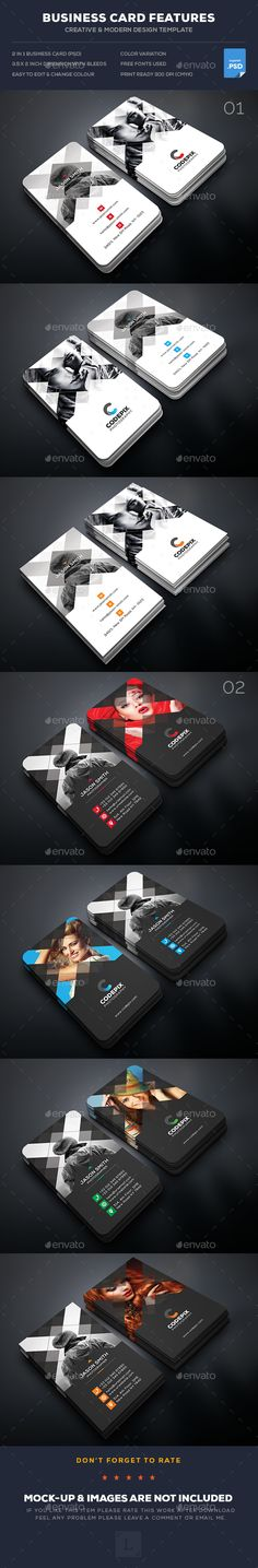 Photography Business Card Templates PSD Bundle. Download here: https://graphicriver.net/item/photography-business-card-bundle/17162558?ref=ksioks