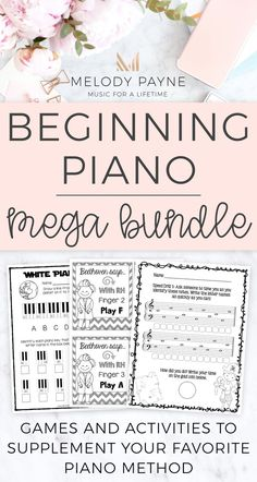 Give your youngest piano students a solid foundation from the beginning with piano worksheets, games, activities, printables, and & more, made just for pre-K, kindergarten, and 1st & 2nd grade music students! Perfect for private music lessons, piano lessons for kids, elementary music classroom, music camp, & group piano class. Finger numbers & hands, piano keys, music symbols, rhythm & beat, improvisation, memory, practicing, sight-reading, note identification.