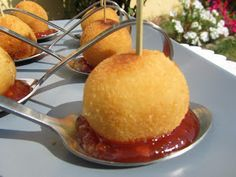 Croquet's – Croquetas One of the Specialties in Top 14 Places to discov… – Amazing World Food and Recipes Aperitivos Finger Food, Food Porn, Yummy Food, Tasty, Snacks, Appetisers, Appetizer Recipes, Catering, Food To Make