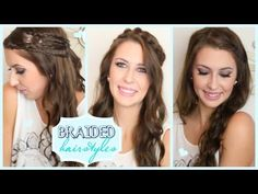 3 half-up, half-down hairstyles that all incorporate braids! Click for a video tutorial