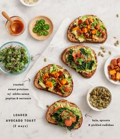 Loaded Sweet Potato Avocado Toast / loveandlemons