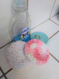 Baby Girl Winter Hats, Crochet Bowl, Washing Dishes, Birthday Decorations, Pretty In Pink, Party Favors, Eco Friendly, Card Making, Knitting