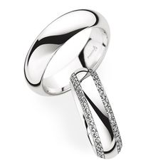 Christian Bauer Platinum Wedding Bands with Diamonds for Her  280034 / 246851