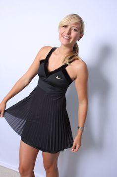 Maria Sharapova In Black Tennis Dress Maria Sharapova Εμφανίσεις Nike And  On Pinterest